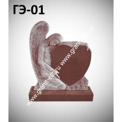 Памятник элитный ГЭ-01, красный