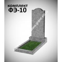 Памятник из гранита фигурный ФЭ-10, эконом, светло-серый