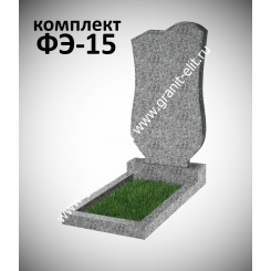 Памятник из гранита фигурный ФЭ-15, эконом, светло-серый