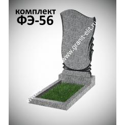 Памятник из гранита фигурный ФЭ-56, эконом, светло-серый
