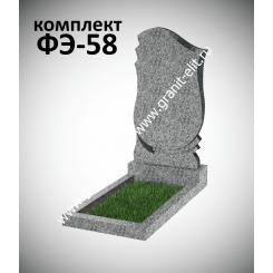Гранитный памятник фигурный ФЭ-58, эконом, светло-серый