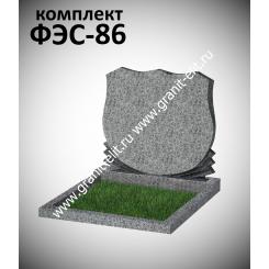 Памятник семейный ФЭС-86, светло-серый, стела 700 мм