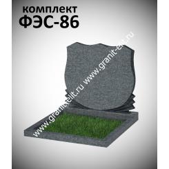 Памятник семейный ФЭС-86, темно-серый, стела 700 мм