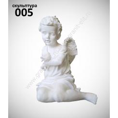 """Скульптура 005 """"Ангел с воробышком"""""""