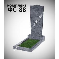 Памятник фигурный ФС-88, голубой, подставка 550