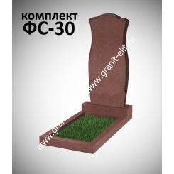 Памятник фигурный ФС-30, красный, подставка 600