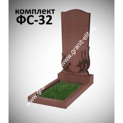 Памятник фигурный ФС-32, красный, подставка 600