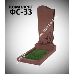 Памятник фигурный ФС-33, красный, подставка 600