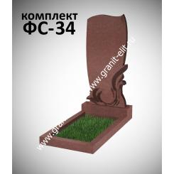 Памятник фигурный ФС-34, красный, подставка 600