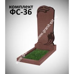 Памятник фигурный ФС-36, красный, подставка 600