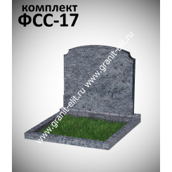Памятник семейный ФСС-17. голубой