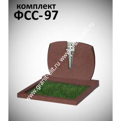 Памятник семейный ФСС-97, красный