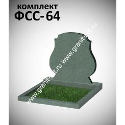 Памятник семейный ФСС-64, зеленый