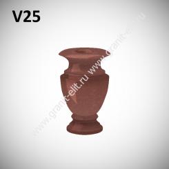Ваза гранитная V25, красная